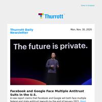Facebook and Google Face Multiple Antitrust Suits in the U.S.
