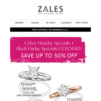 Woohoo! Cyber Monday SPECIALS + Black Friday Specials EXTENDED