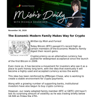 [Mish's Daily] The Economic Modern Family Makes Way for Crypto
