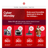 Cyber Monday Deals end tonight! 👩💻👨💻