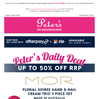 Up To 50% off RRP - From $15 Mor Beauty Packs (Made in Australia)