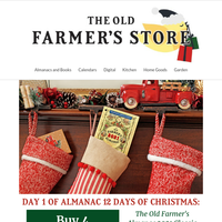 Buy 4 Almanacs, get 1 free: Gifts for the whole family!