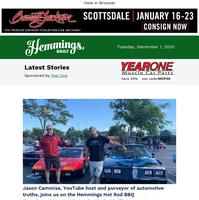 Hemmings Daily: YouTube host Jason Cammisa stops by the Hemmings Hot Rod BBQ