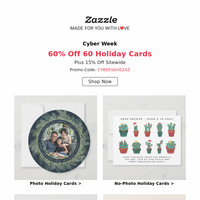 Get Those Family Pics Ready with 60% Off Holiday Cards!