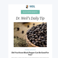 Did You Know Black Pepper Can Be Good For You?
