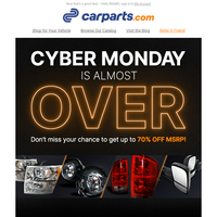 LAST CHANCE For Your Cyber Monday Savings!