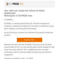 Your healthcare innovation idea. Over 1 Cr in rewards.