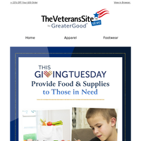 Provide Food to Those in Need for Giving Tuesday