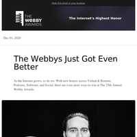 New categories being honored at the 25th Annual Webby Awards