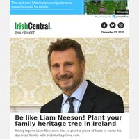 Be like Liam Neeson! Plant your family heritage tree in Ireland
