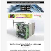 Label News – Domino launches serialization technology for pharma, Aptech invests in Bobst Mouvent LB701-UV press