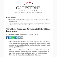 'Unrighteous Commerce': Our Responsibility for China's Barbaric Acts