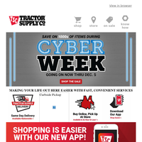 Save on 1000s of Items During Cyber Week