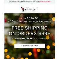 EXTENDED! Save Big for Cyber Monday