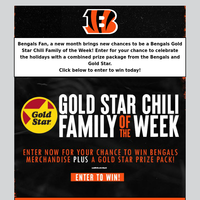 Be the Next Gold Star Chili Family of the Week