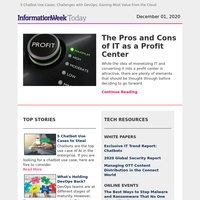 Ways to Make IT a Profit Center