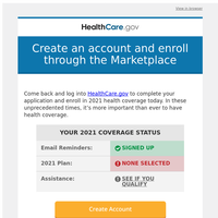 Create an account and enroll through the Marketplace