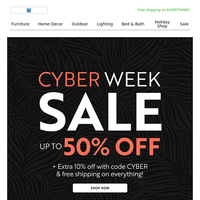 Forget Cyber Monday. It's Cyber Week! 💻✔️