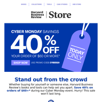 Last Day to Save 40% - Cyber Monday Extended!