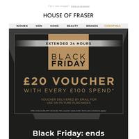 Black Friday offer ends at midnight