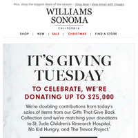 We're doubling contributions for Giving Tuesday