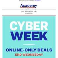 Save Big with Online-Only Cyber Deals