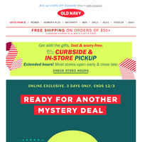 Congratulations: You earned a MYSTERY offer