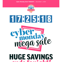 It's not too late to get FREE SHIPPING for Cyber Monday!