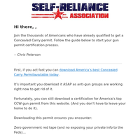 Re: Download Your Online Concealed Carry Certificate Here