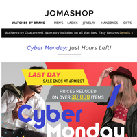 👉 4 HOURS LEFT : Cyber Monday Prices Slashed Sitewide!