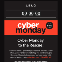 The Feast Continues: Up to 80% off in Our Cyber Monday Sale!