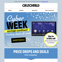 Cyber Monday savings continue!