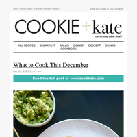 New: What to Cook This December