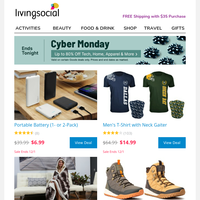 ▶ FINAL DAY: Up to 80% Off — CYBER MONDAY DEALS