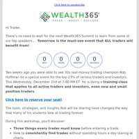 [Tomorrow] 📆 Wealth365 Presents Must-See Strategies For All Traders