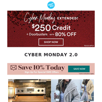 Cyber Monday is Still Going Strong!
