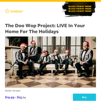 *Black Friday Week continues!* -- Save 20% on a delightfully dapper holiday concert from The Doo Wop Project