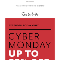 Don't miss these Cyber Monday steals—ends tonight.