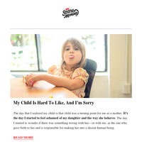 My Child Is Hard To Like, And I'm Sorry