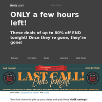 ONLY a few hours left! Our Black Friday & Cyber Monday Deals are OVER!