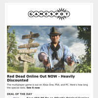Discounts On Red Dead Online, & Cyber Monday Sales Are Still Here