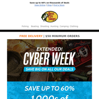 Extended! Save big on all our Cyber Week deals
