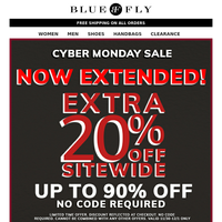 LAST CHANCE!! EXTRA 20% OFF SITEWIDE. LIMITED TIME OFFER. ENDS TONIGHT.