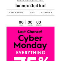 😃 Because You Deserve This! 75% Off CYBER MONDAY!