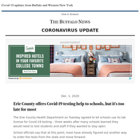 Covid-19: Erie County offers testing help to schools, but it's too late for most