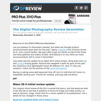 Digital Photography Review Newsletter: Wednesday, December 2, 2020