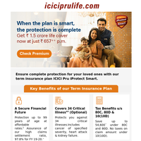 Ensure complete protection for your loved ones with ICICI Prudential iProtect Smart.