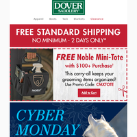 Cyber Monday Ends Tonight - Don't Miss Out on FREE Shipping
