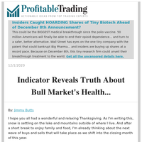 Insiders Caught HOARDING Shares of Tiny Biotech Ahead of December 8th Announcement?
