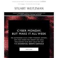 Cyber Monday Extension, Confirmed: The Sale Continues